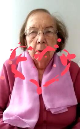 Captura del vídeo de los residentes del Geriátrico de Es Mercadal