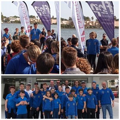 Los palistas de Es Naútic dejaron el club en muy buen lugar en el Campeonato de Baleares