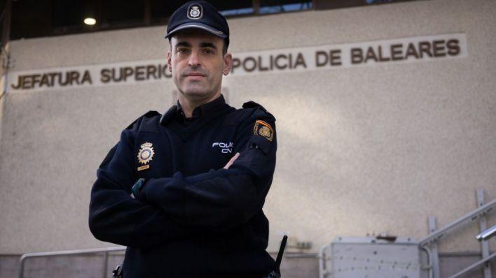 Gustavo Cervero, tras la entrevista (Foto y texto: mallorcadiario.com)