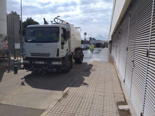 (Fotos) Máxima limpieza en el Mateu Orfila