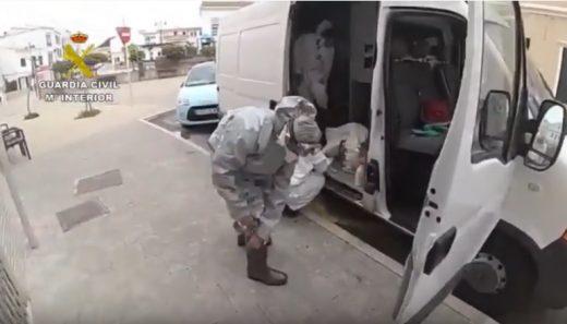 Imagen del vídeo enviado por la Guardia Civil