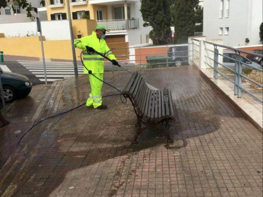 (Fotos) Alaior pide ayuda al Ejército para desinfectar la ciudad