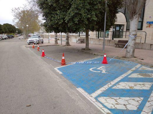 Imagen de los aparcamientos reservados en Dalt Sant Joan