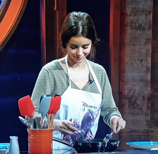 María, mientras cocinaba.