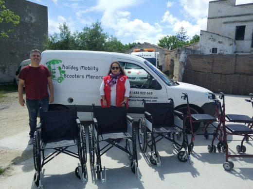(Fotos) Nuevas donaciones para Creu Roja de Maó- Es Castell