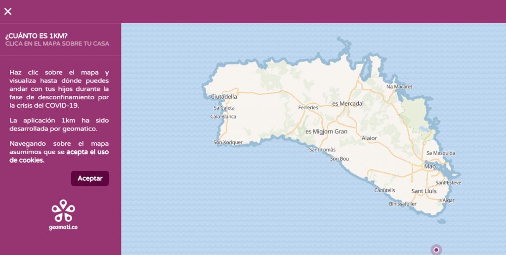Menorca, en la página.
