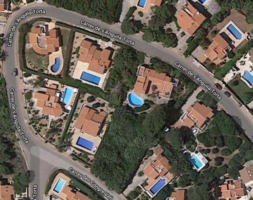 Vista aérea de la calle de s'Anguila Torta.