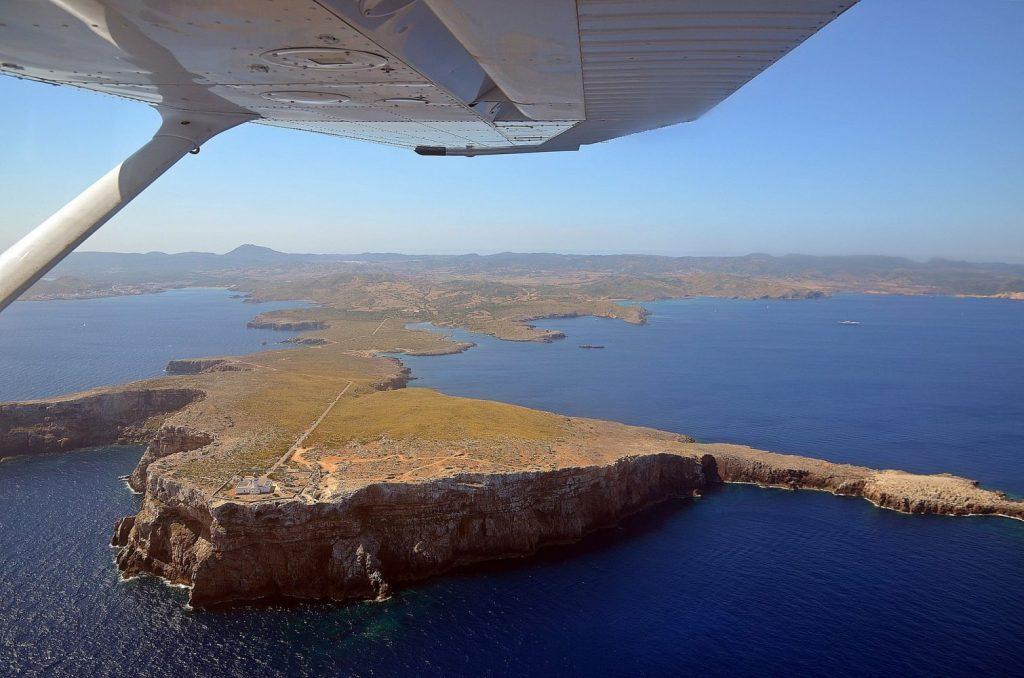 Imagen captada desde el avión monomotor (Foto: Alberto Ortega)