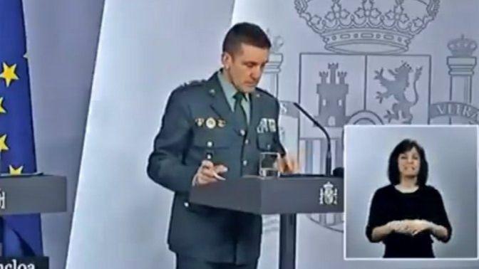 Intervención del general Santiago.