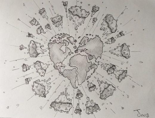 Ilustración pandemia.AUTOR.- @jon.hrt