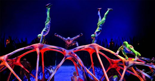 Espectáculo del Circo del Sol.