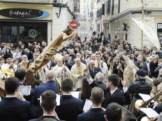 """(Fotos) La Semana Santa concluye sin """"Processó de l'Encontre"""""""