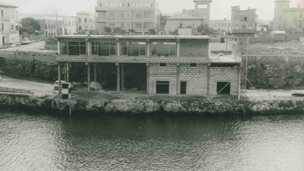 Imagen de la construcción de la obra (Fotos: CN Ciutadella)
