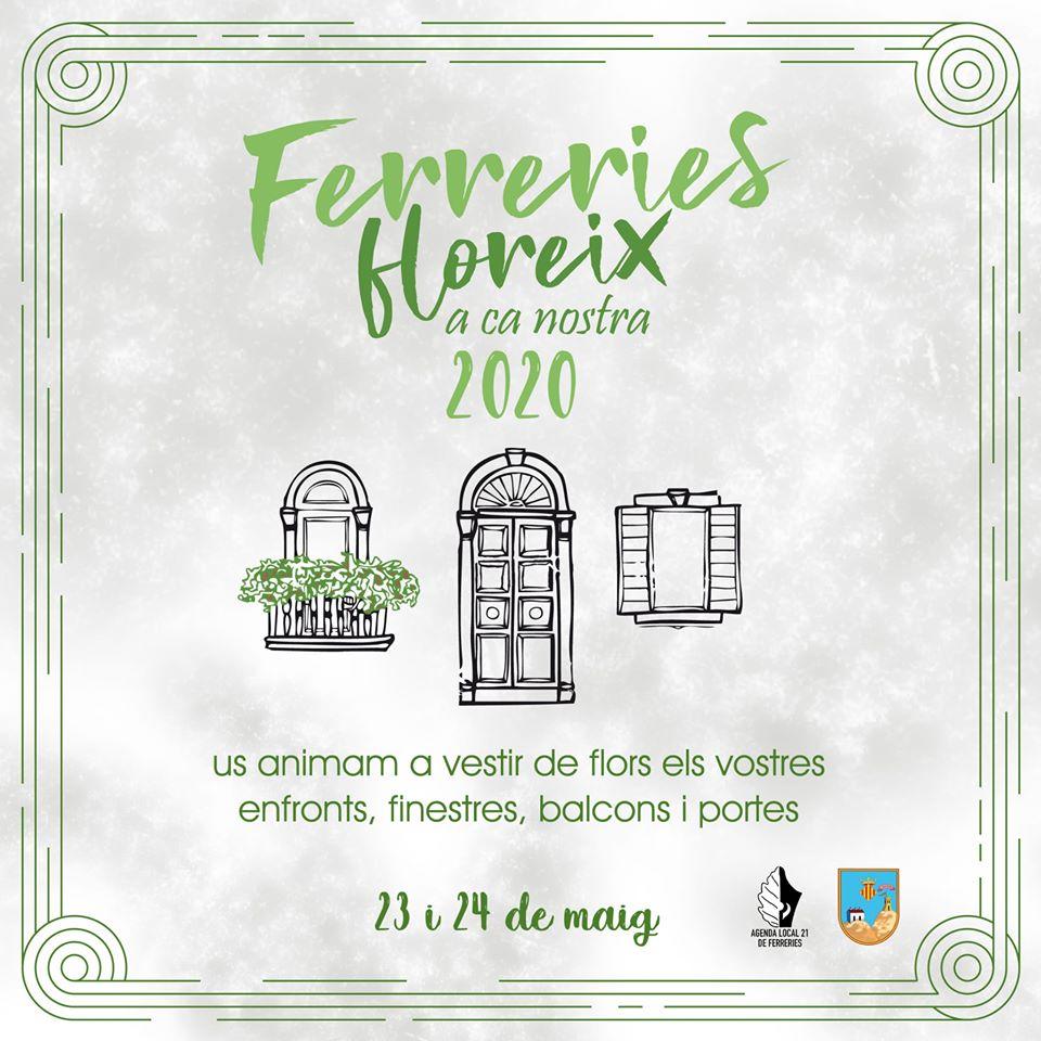 Cartel de la convocatoria de Ferreries floreix 2020