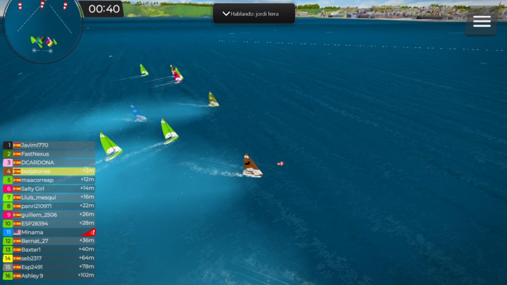 Captura de pantalla de la regata virtual