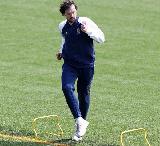 Llull, en pleno entrenamiento (Foto: Real Madrid)