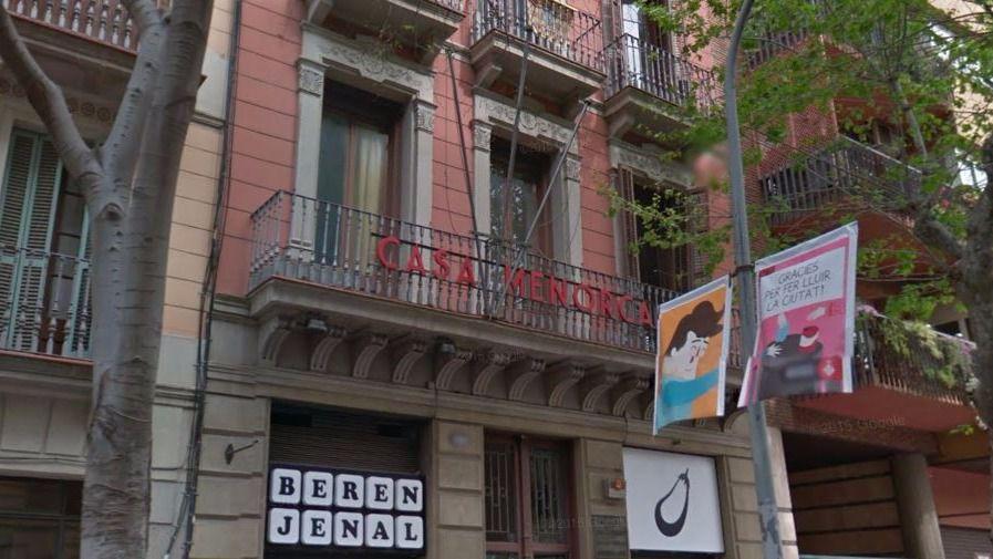 En el centro de Barcelona.