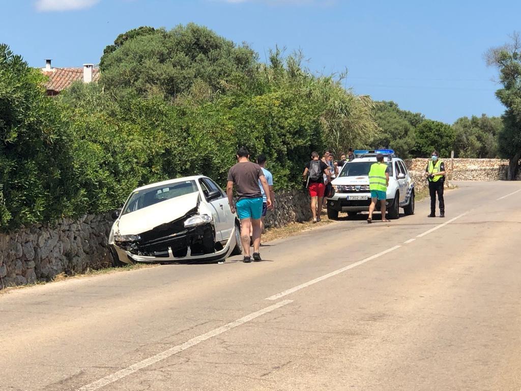 Imagen del accidente (Foto: Tolo Mercadal)