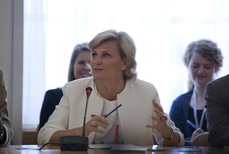María Neira, directora de Salud Pública de la OMS (U.S. Mission Photo by Eric Bridiers)
