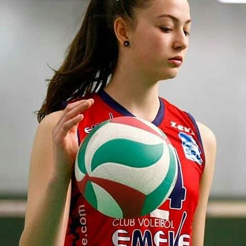 Sara Folgueira, en su etapa en Lugo.