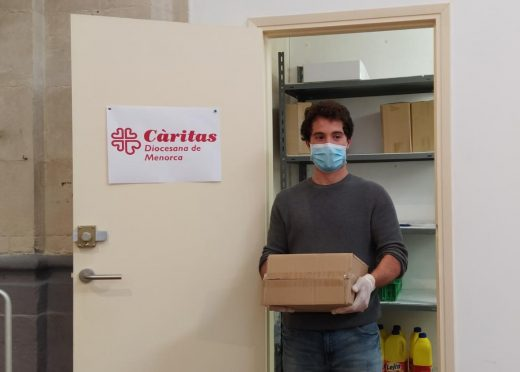 Servicio de alimentos de Cáritas de Menorca