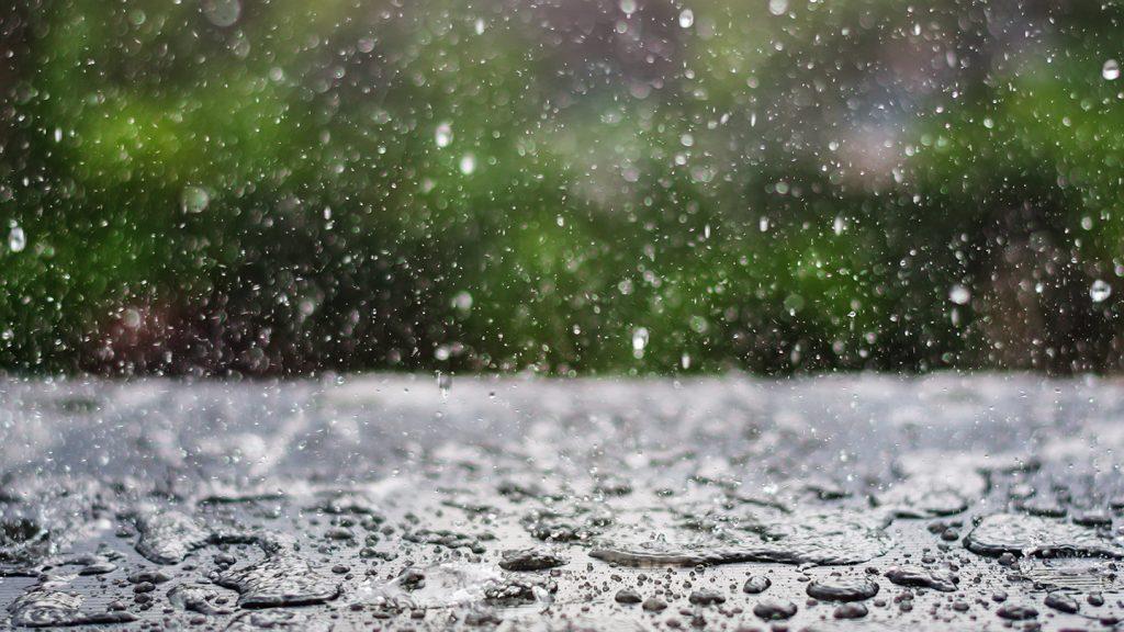 Gotas de lluvia.