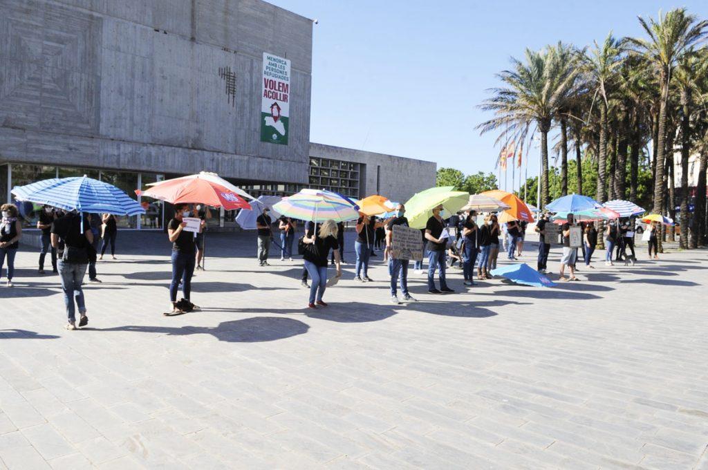 Los autónomos temporales se han manifestado este verano en Menorca en varias ocasiones (Foto: Tolo Mercadal)