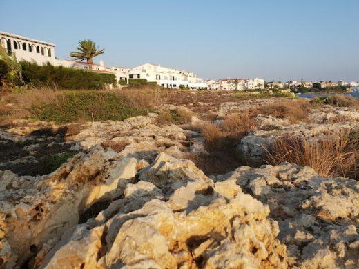 Zona del sendero litoral en Sol del Este