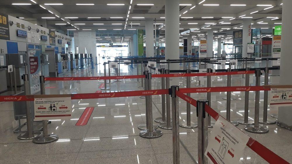 Facturación en Palma, con la terminal vacía.