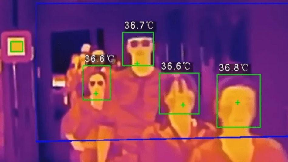 Cámara termográfica de control de temperatura.