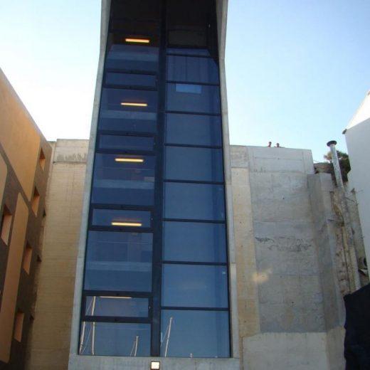 Imagen del ascensor (Foto: Ajuntament de Maó)