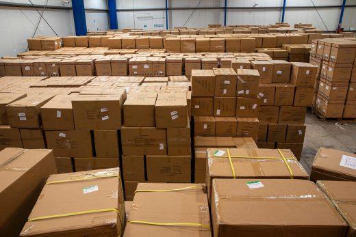 Imagen del cargamento procedente de China.