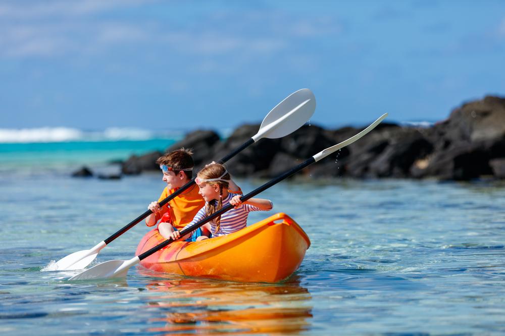 Kayak para los más jóvenes.