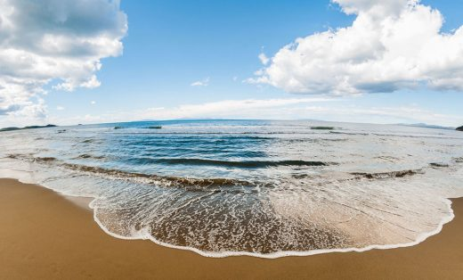 Orilla de la playa.
