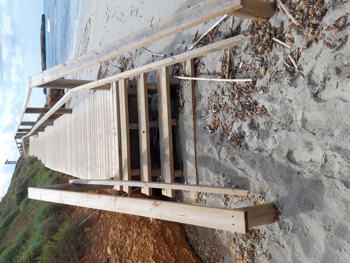 Pasarela de Binigaus, playa de Es Migjorn Gran
