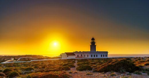 Puesta de sol en Cavalleria (Foto: Turismo de Menorca)