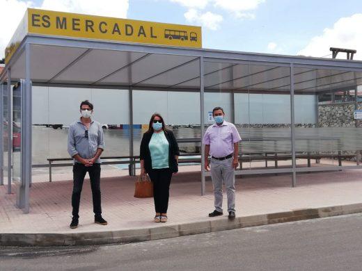 (Fotos) Es Mercadal mejora las instalaciones del transporte