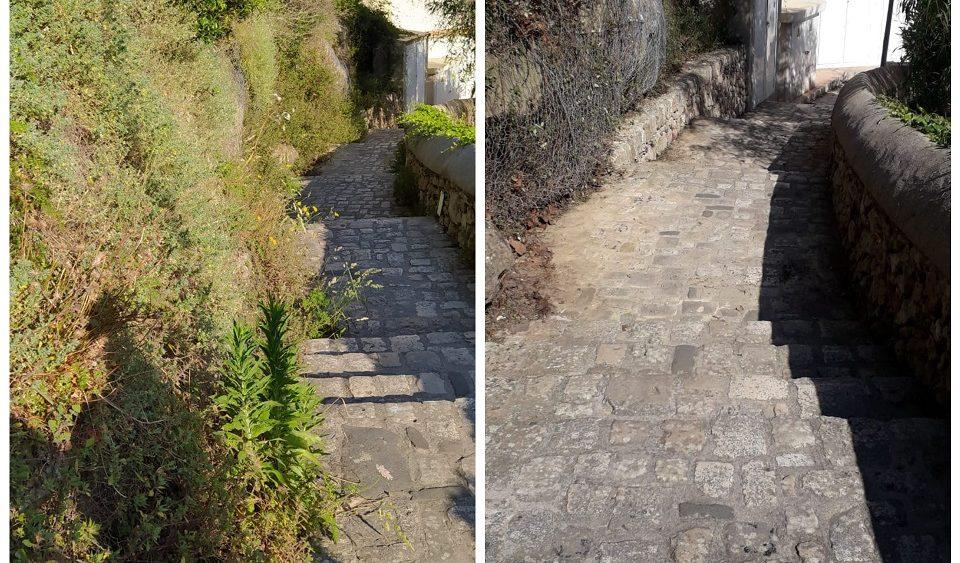 Antes y después de las actuaciones (Fotos: Ajuntament de Maó)