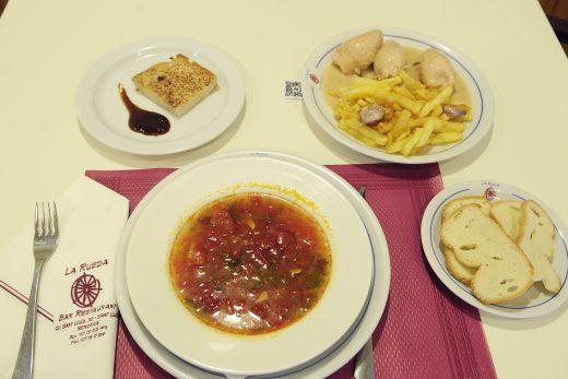 Imagen del menú de La Rueda, en Sant Lluís (Fotos: Tolo Mercadal)