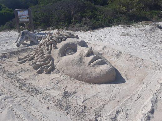 (Fotos) Obras de arte sobre la arena