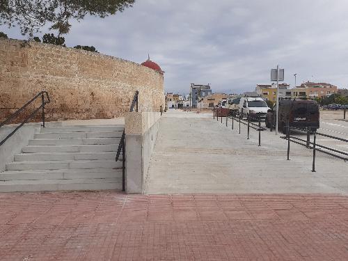 Finalizadas las obras de la plaza del Cementerio Viejo de Ciutadella (Foto: Ayto. Ciutadella)