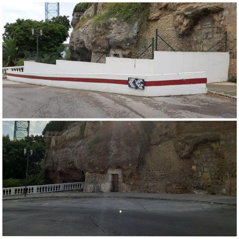 Antes y después de la obras en la Costa de Ses Voltes
