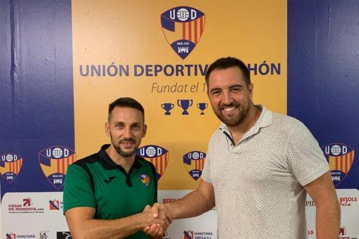 Borja Pons con Dino Gelabert, presidente del Club