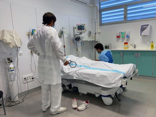Box de Urgencias en el Hospital Mateu Orfila
