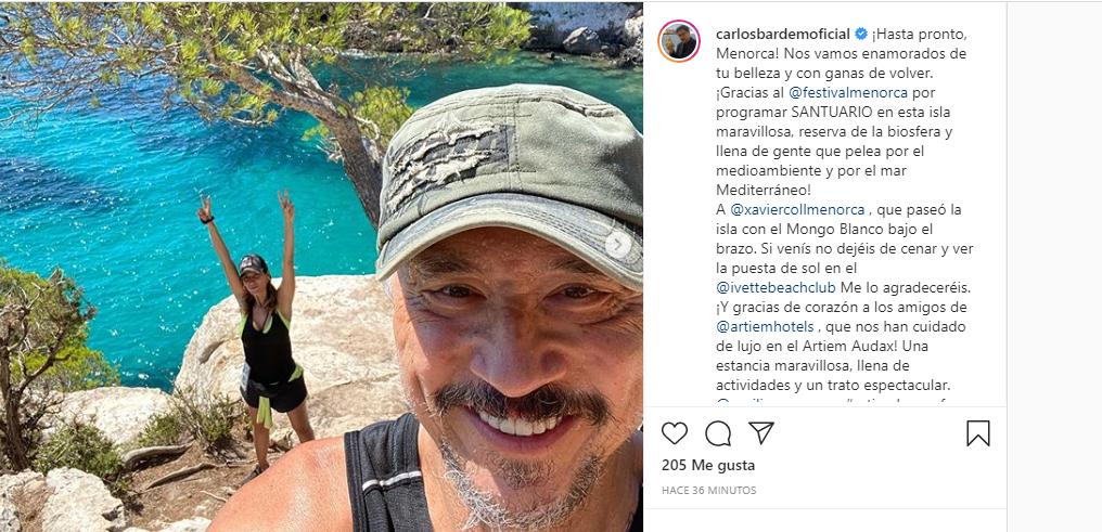 Publicación en Instagram de Bardem.