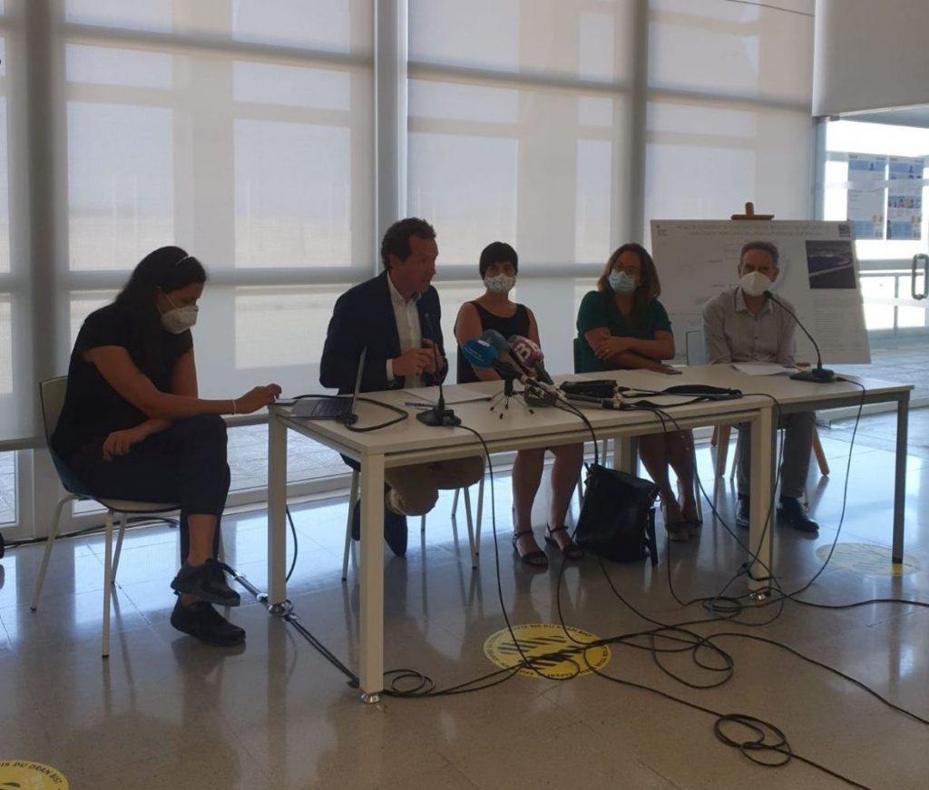 Imagen de la rueda de prensa esta mañana en Ciutadella