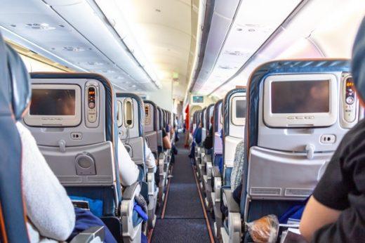Interior de un avión.