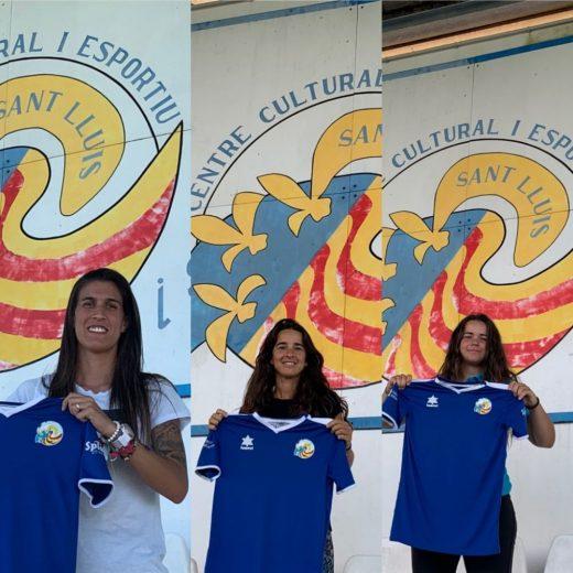 Laura Ruiz, Zaira Martínez y Mireia Bonilla, fútbol femenino en Sant Lluís