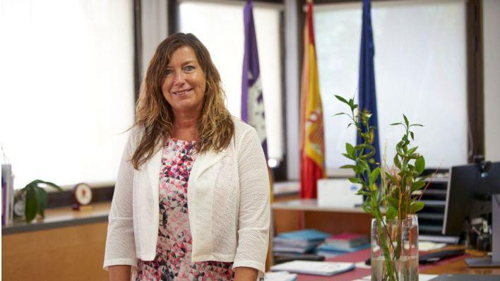 Patricia Gómez, tras una entrevista (Foto: Javier Fernández - Mallorcadiario.com)