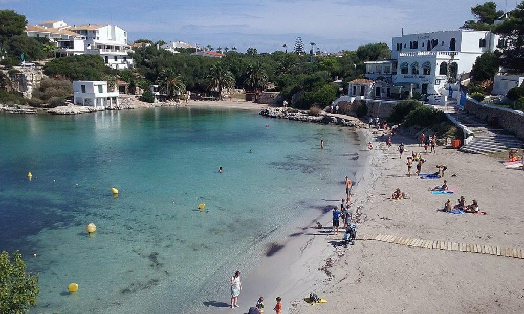 Playa de Santandria en Ciutadella.